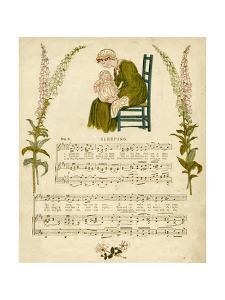 Illustration with Music, Sleeping by Kate Greenaway