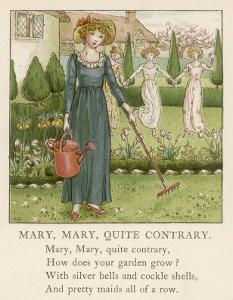 Mary Mary Quite Contrary How Does Your Garden Grow? by Kate Greenaway