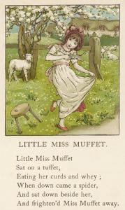 She Upsets Her Stool When She Finds a, Really Rather Small, Spider Sharing It with Her by Kate Greenaway