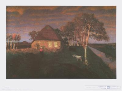 Kate in Gloaming in the Evening-Otto Modersohn-Art Print