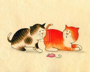 Playful Kittens II by Kate Mawdsley