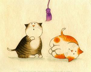 Playful Kittens IV by Kate Mawdsley