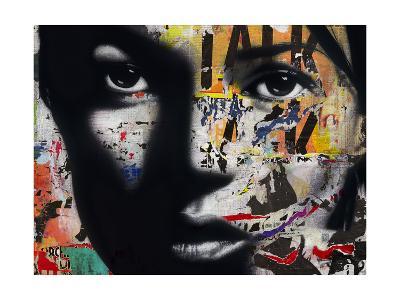 Kate Moss-Andr? Monet-Giclee Print