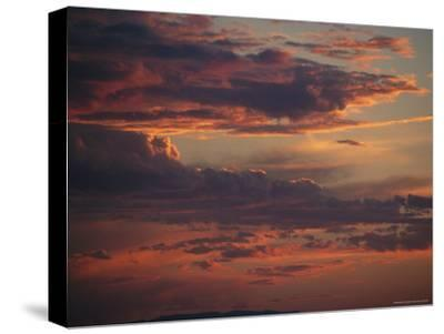 Dramatic Sky with Clouds at Sunset