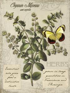 Herbs & Butterflies I by Kate Ward Thacker