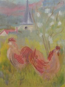 Spring Comes to Burgundy by Kate Yates
