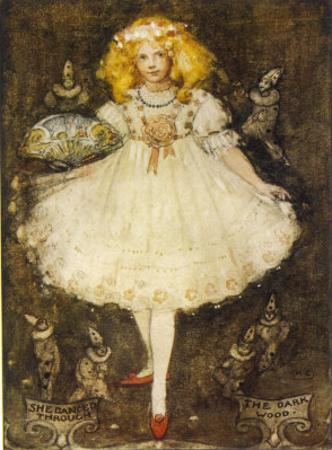 """""""She Danced Through the Dark Wood"""", Karen Wears the Red Shoes by Katharine Cameron"""