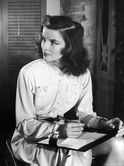 Katharine Hepburn in Early Portrait-Alfred Eisenstaedt-Premium Photographic Print