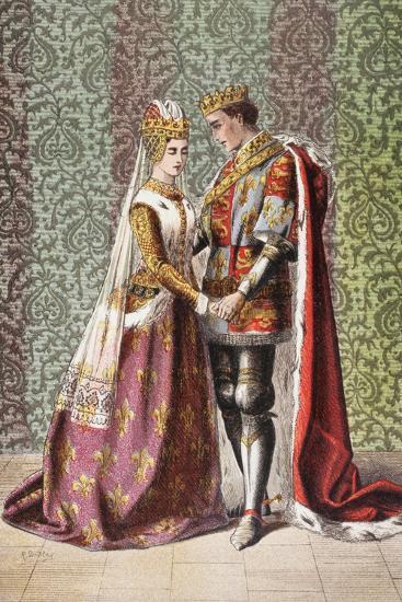 Katharine Speaks in Henry V, Act V, Scene II, 'Dat Is as it Sall Please De Roi Mon Pere', from…-Robert Dudley-Giclee Print
