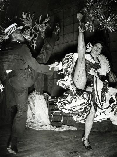 Katherine Dunham and Vanoye Aikens Dancing the 'Cakewalk' at the Cambridge Theatre--Photographic Print