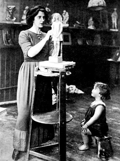 Kathleen Bruce and Peter Scott, 1912--Photographic Print