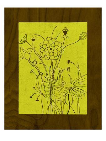 Wenge Wood Floral 2-Lime