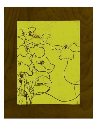 Wenge Wood Floral 3-Lime