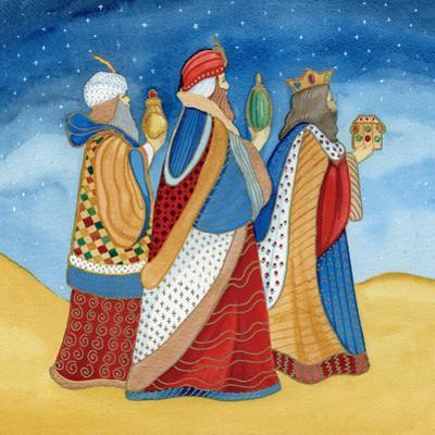 Christmas in Bethlehem I with Stars by Kathleen Parr McKenna