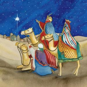 Christmas in Bethlehem II Square by Kathleen Parr McKenna