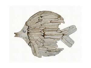 Coastal Holiday Ornament I by Kathleen Parr McKenna