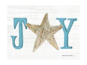 Coastal Holiday Ornament X Joy by Kathleen Parr McKenna