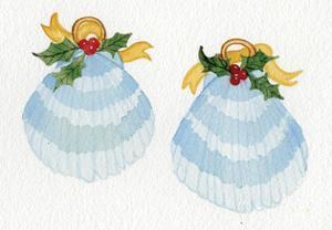 Coastal Holiday ornament XI by Kathleen Parr McKenna