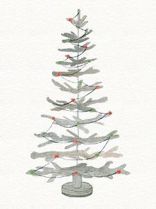 Coastal Holiday Tree II Red by Kathleen Parr McKenna