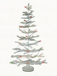 Coastal Holiday Tree II Red by Kathleen Parr McKenna