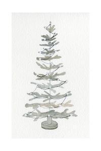 Coastal Holiday Tree II by Kathleen Parr McKenna
