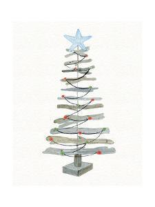 Coastal Holiday Tree III Red by Kathleen Parr McKenna