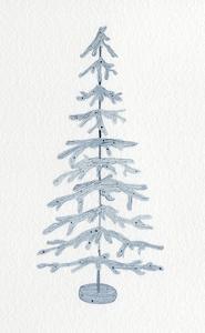 Coastal Holiday Tree IV by Kathleen Parr McKenna