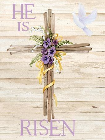 Easter Blessing Saying III with Cross v2