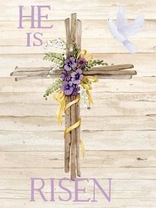Easter Blessing Saying III with Cross v2 by Kathleen Parr McKenna
