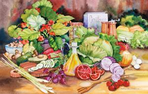 Garden Salad by Kathleen Parr McKenna