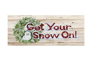 Holiday Sayings III on Wood by Kathleen Parr McKenna