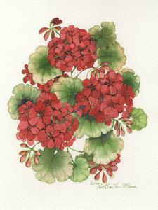 Red Geraniums by Kathleen Parr McKenna