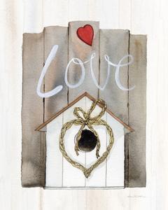 Rustic Valentine Birdhouse by Kathleen Parr McKenna
