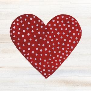 Rustic Valentine Heart I by Kathleen Parr McKenna
