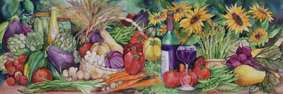 Rustic Valentine Bushel Basket-Kathleen Parr McKenna-Art Print