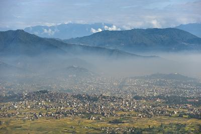 Kathmandu Valley Seen from the Top of Hatiban Resort-Alex Treadway-Photographic Print