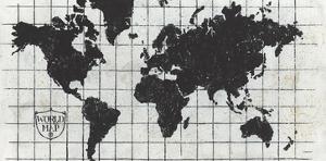 Black Gild World Map I Crest by Kathrine Lovell