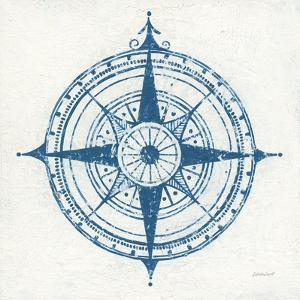 Indigo Gild Compass Rose II by Kathrine Lovell