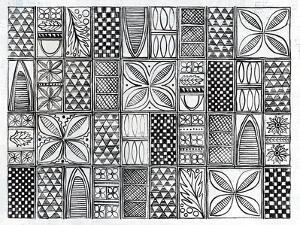 Patterns Of The Amazon II BW by Kathrine Lovell