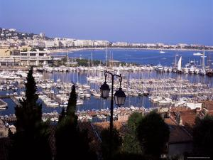 Cannes and the Festival Theatre, Alpes-Maritimes, French Riviera, France by Kathy Collins