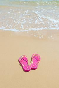 Flip Flops on a Sandy Beach by Kathy Collins