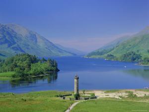 Glenfinnan Monument and Loch Shiel, Highlands Region, Scotland, UK, Europe by Kathy Collins