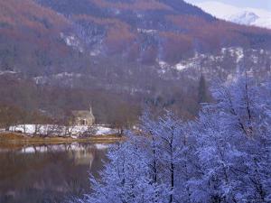 Loch Achray in Winter, the Trossachs, Central Region, Scotland, UK, Europe by Kathy Collins
