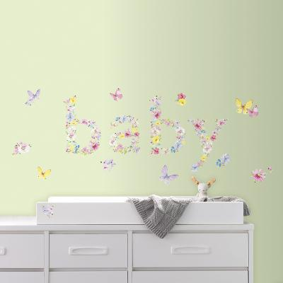 Kathy Davis Baby Butterflies Peel and Stick Wall Decals--Wall Decal