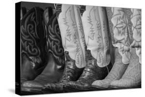 Cowboy Boots BW II by Kathy Mahan