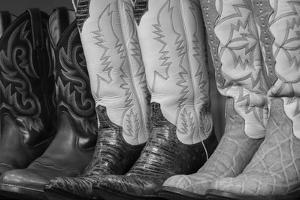 Cowboy Boots BW II by Kathy Mahan