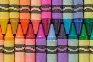 Crayons of a Rainbow I by Kathy Mahan