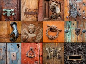 On the Door IV by Kathy Mahan
