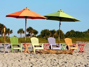 Beach Chairs by Kathy Mansfield