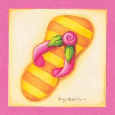 Pink Flip Flop I by Kathy Middlebrook